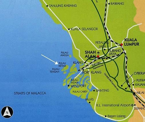 Image result for pulau ketam map